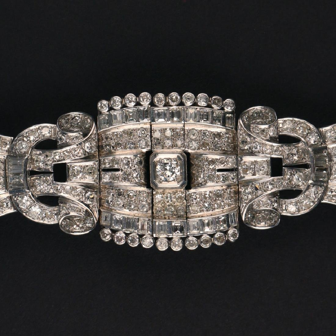 FRENCH RIBBON-FORM DIAMOND BRACELET - 3