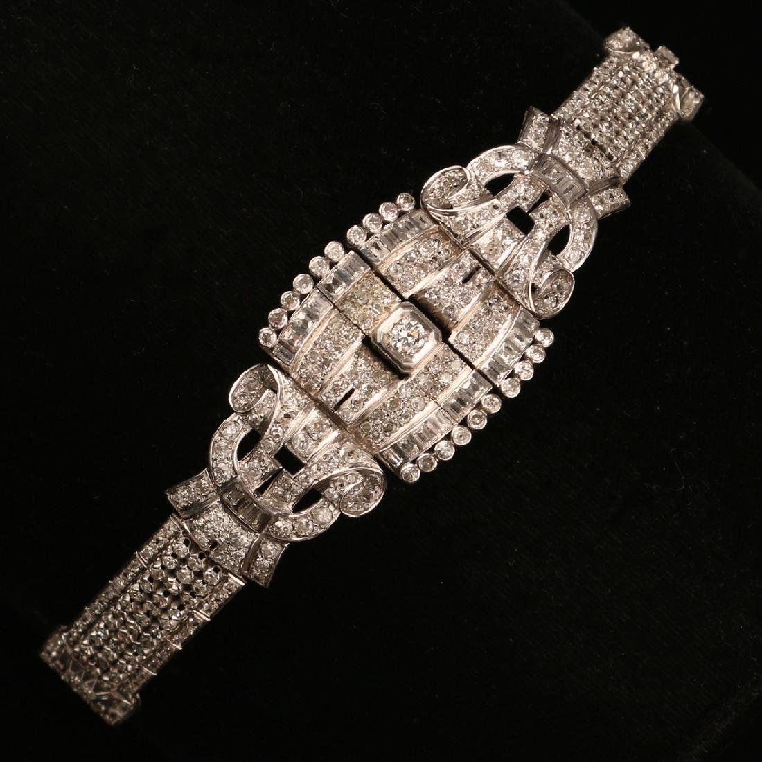 FRENCH RIBBON-FORM DIAMOND BRACELET - 5