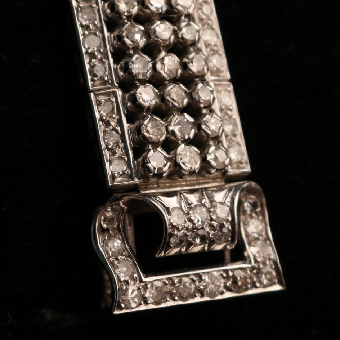 FRENCH RIBBON-FORM DIAMOND BRACELET - 6
