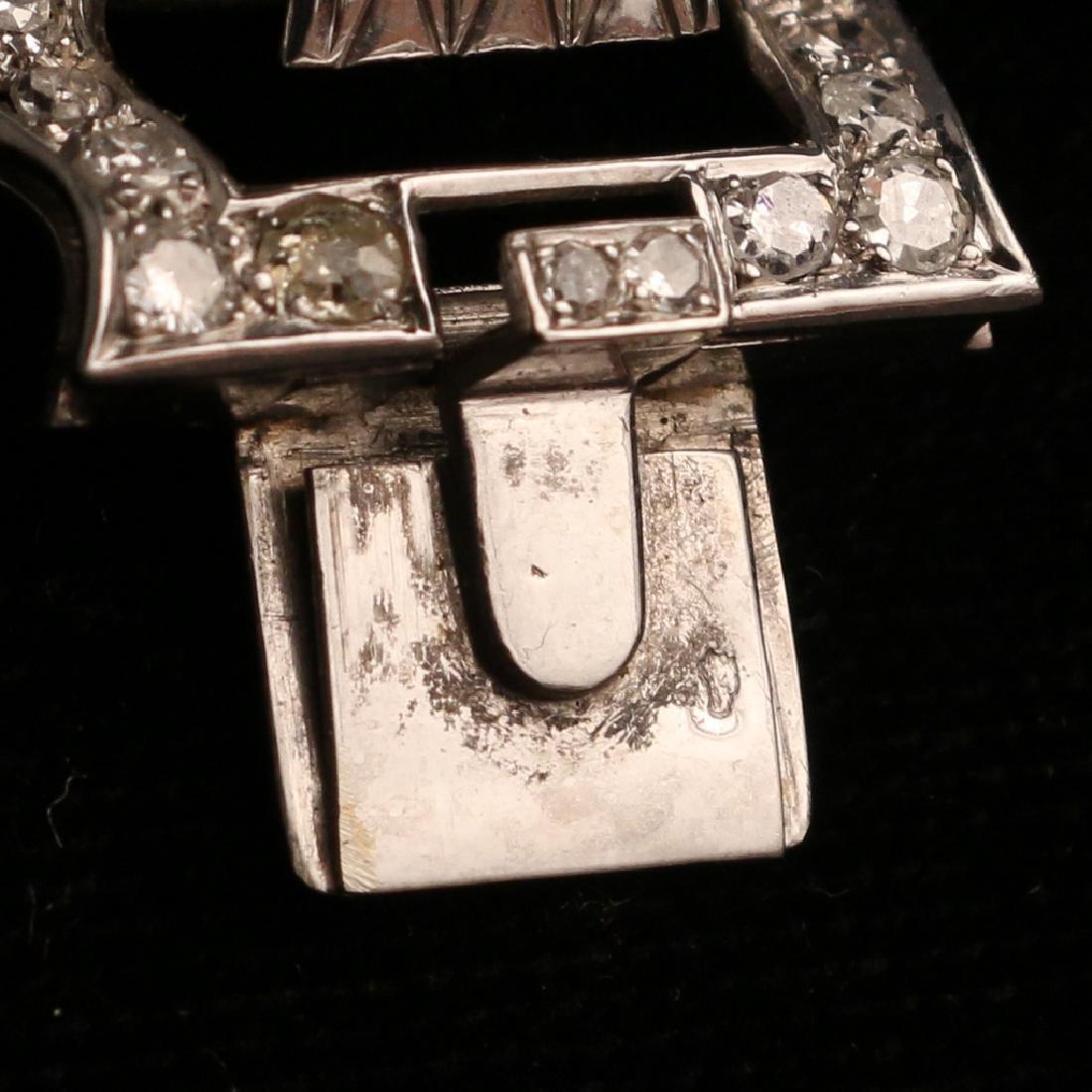 FRENCH RIBBON-FORM DIAMOND BRACELET - 9
