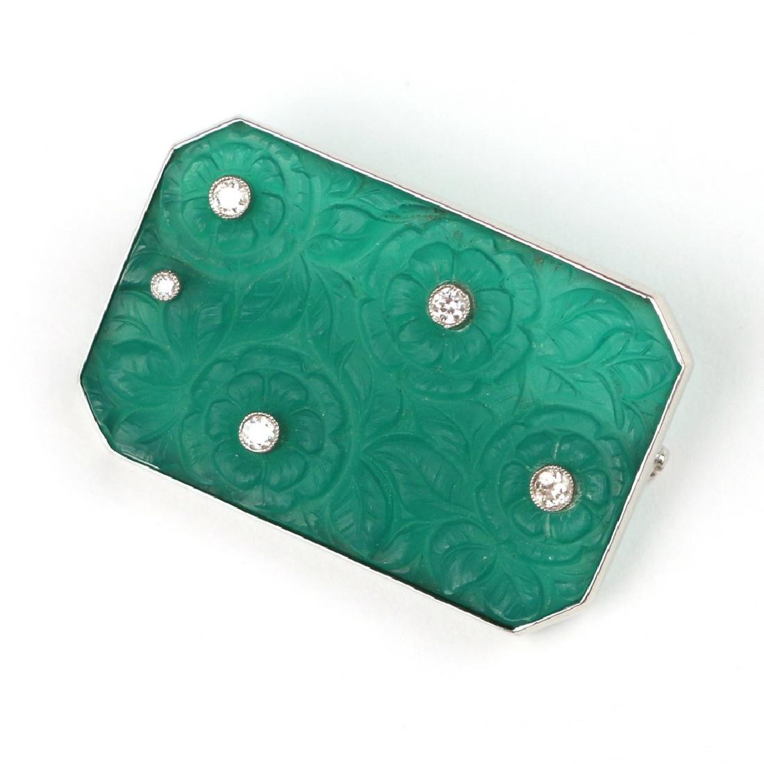 PLIQUE-A-JOUR & DIAMOND PIN