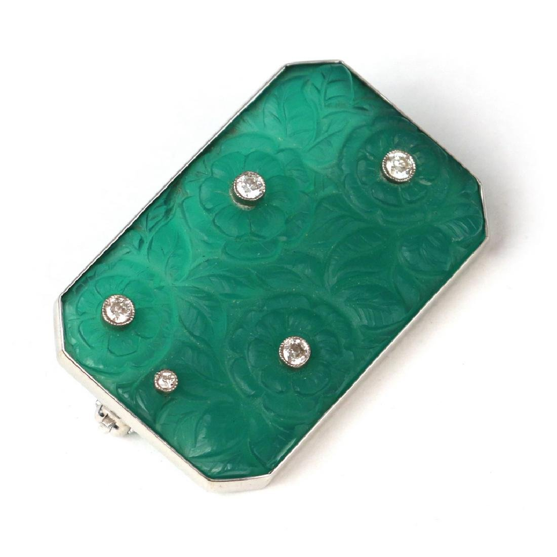 PLIQUE-A-JOUR & DIAMOND PIN - 2