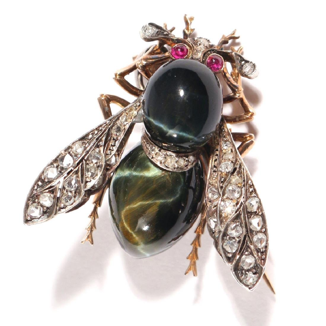 PHENOMENAL FRENCH NAPOLEONIC BEE PENDANT PIN