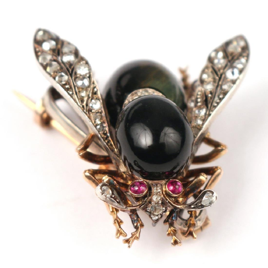 PHENOMENAL FRENCH NAPOLEONIC BEE PENDANT PIN - 3