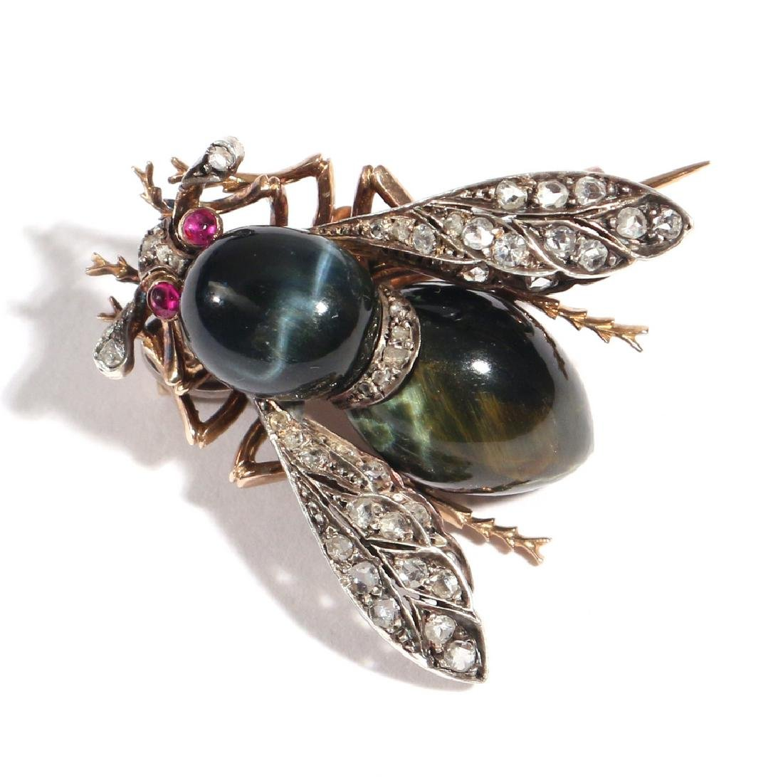 PHENOMENAL FRENCH NAPOLEONIC BEE PENDANT PIN - 4