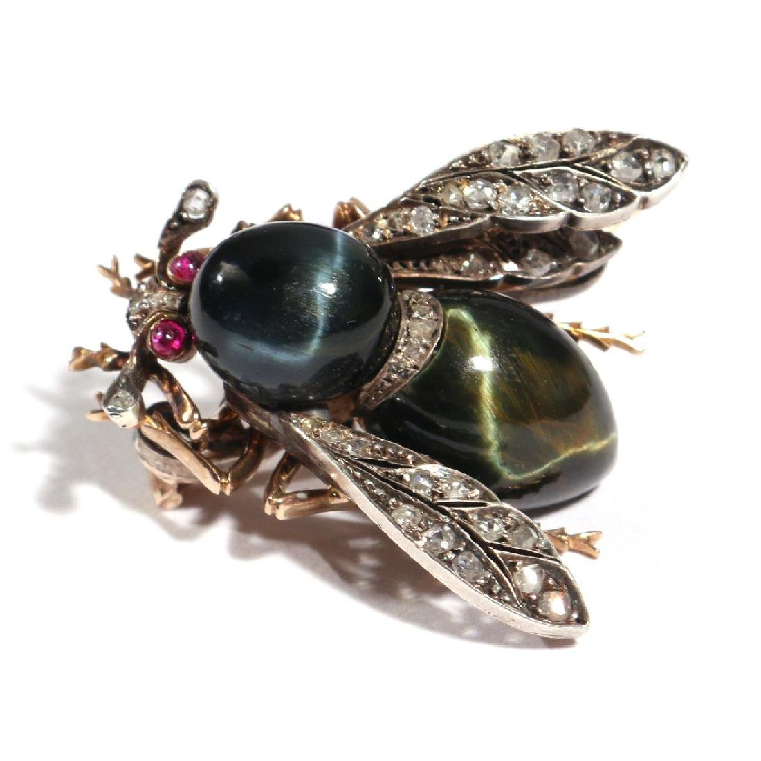 PHENOMENAL FRENCH NAPOLEONIC BEE PENDANT PIN - 5