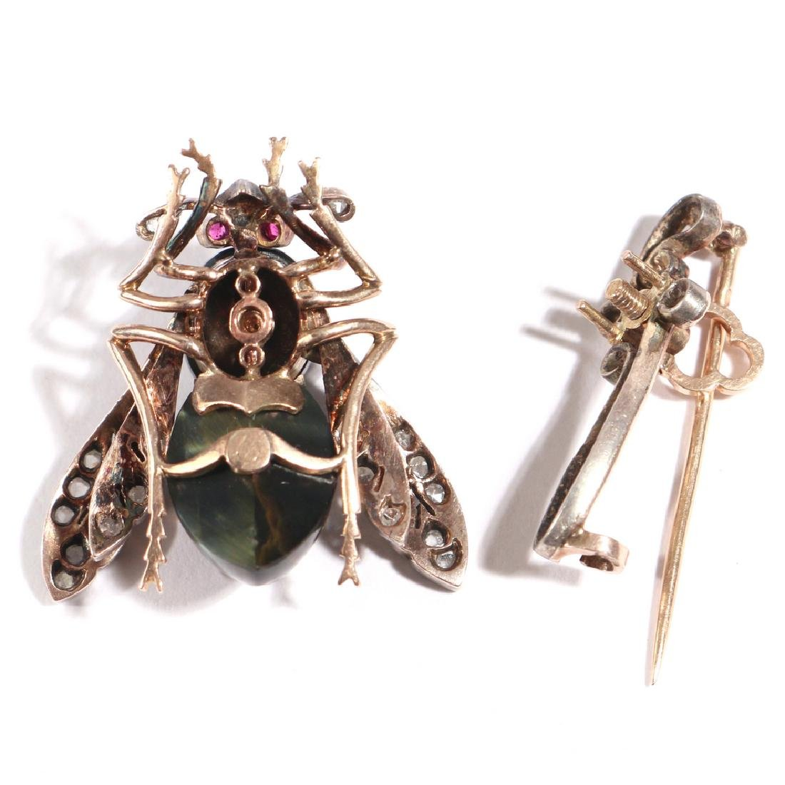 PHENOMENAL FRENCH NAPOLEONIC BEE PENDANT PIN - 7