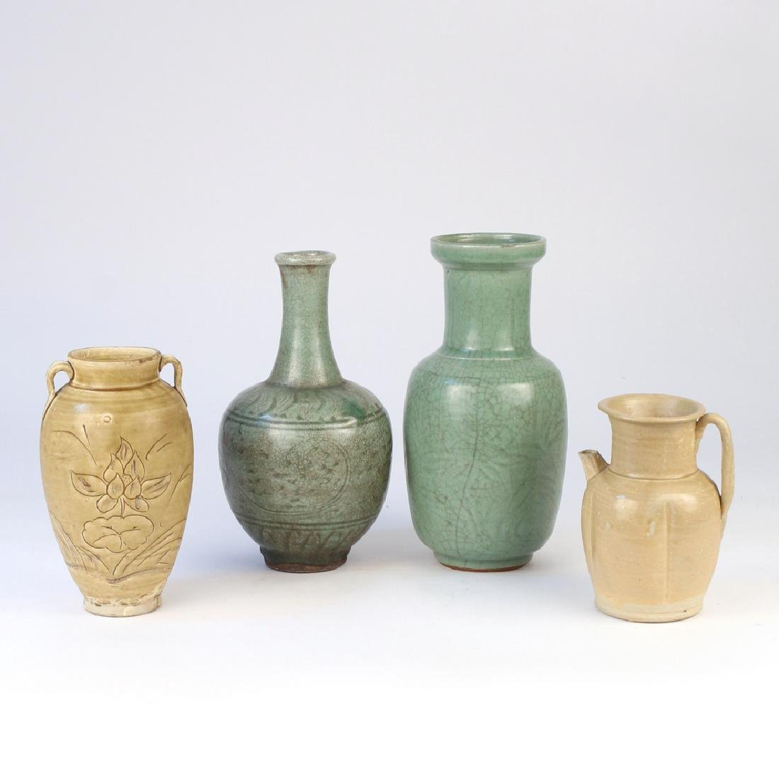 (4pc) EARLY CHINESE CELADON VESSELS