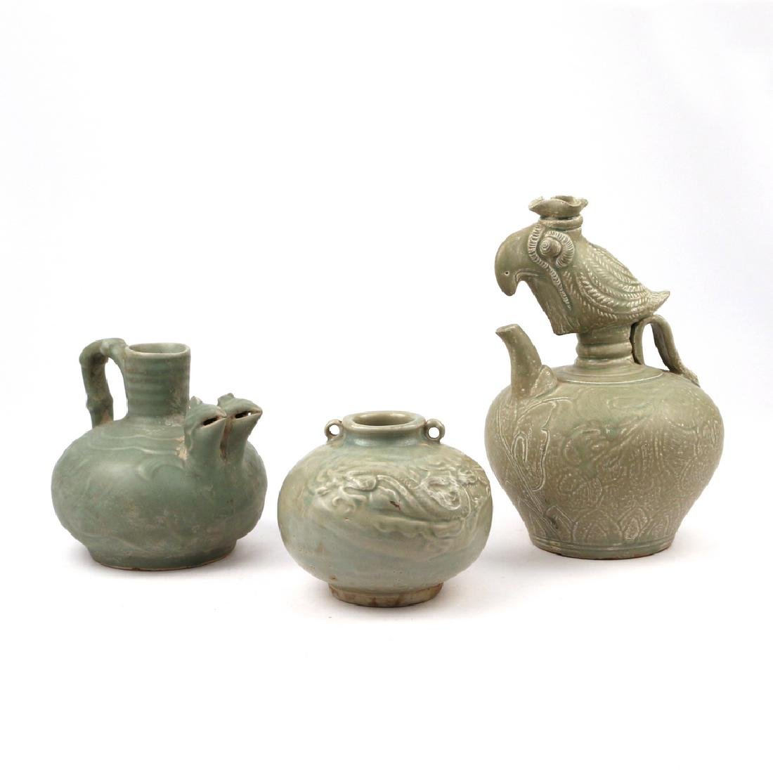 (3pc) CHINESE CELADON VESSELS