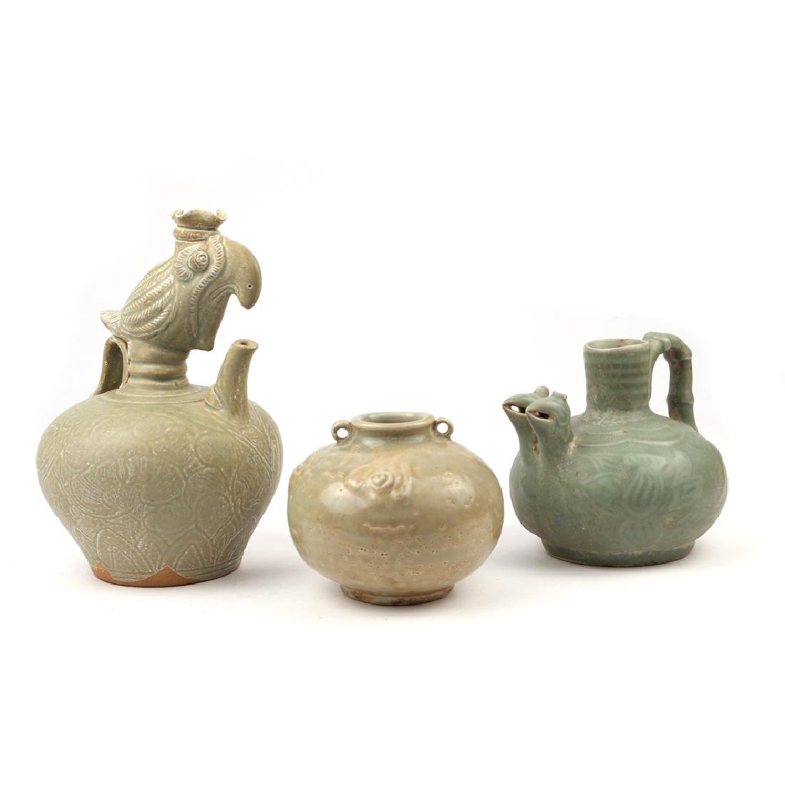 (3pc) CHINESE CELADON VESSELS - 3