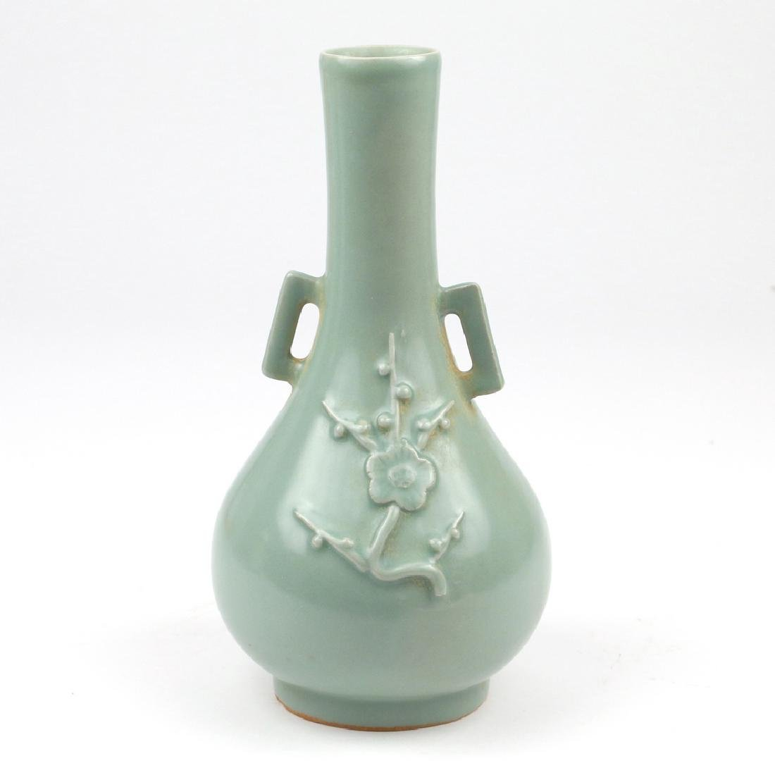 CHINESE CELADON BOTTLE VASE