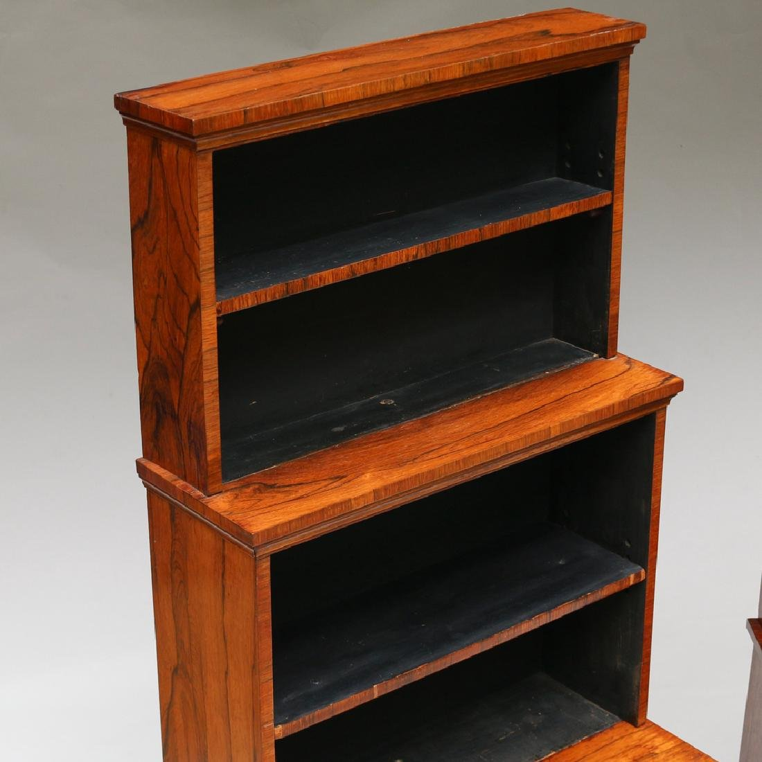 PAIR OF REGENCY ROSEWOOD TIERED BOOKCASES - 2