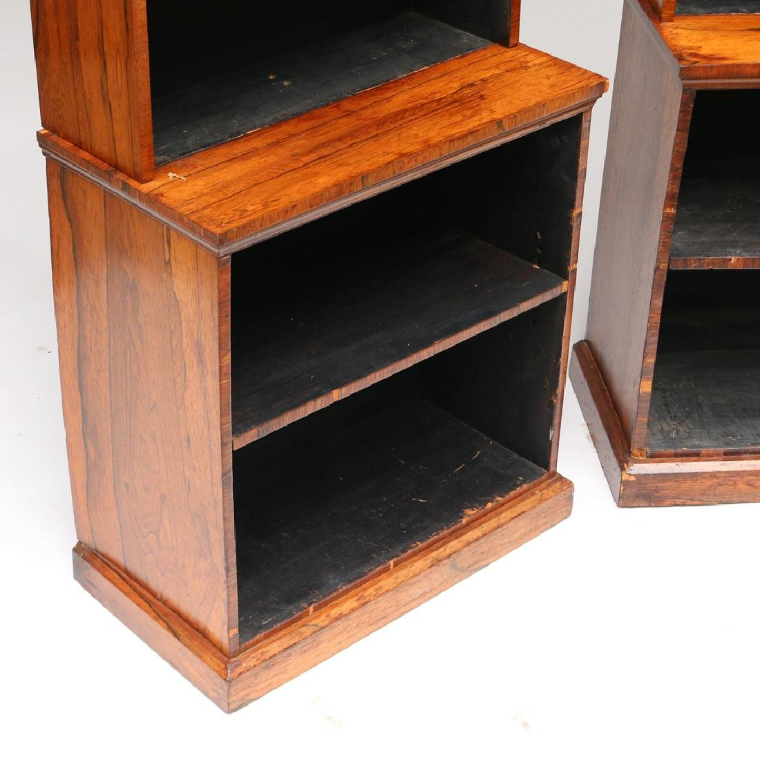 PAIR OF REGENCY ROSEWOOD TIERED BOOKCASES - 3