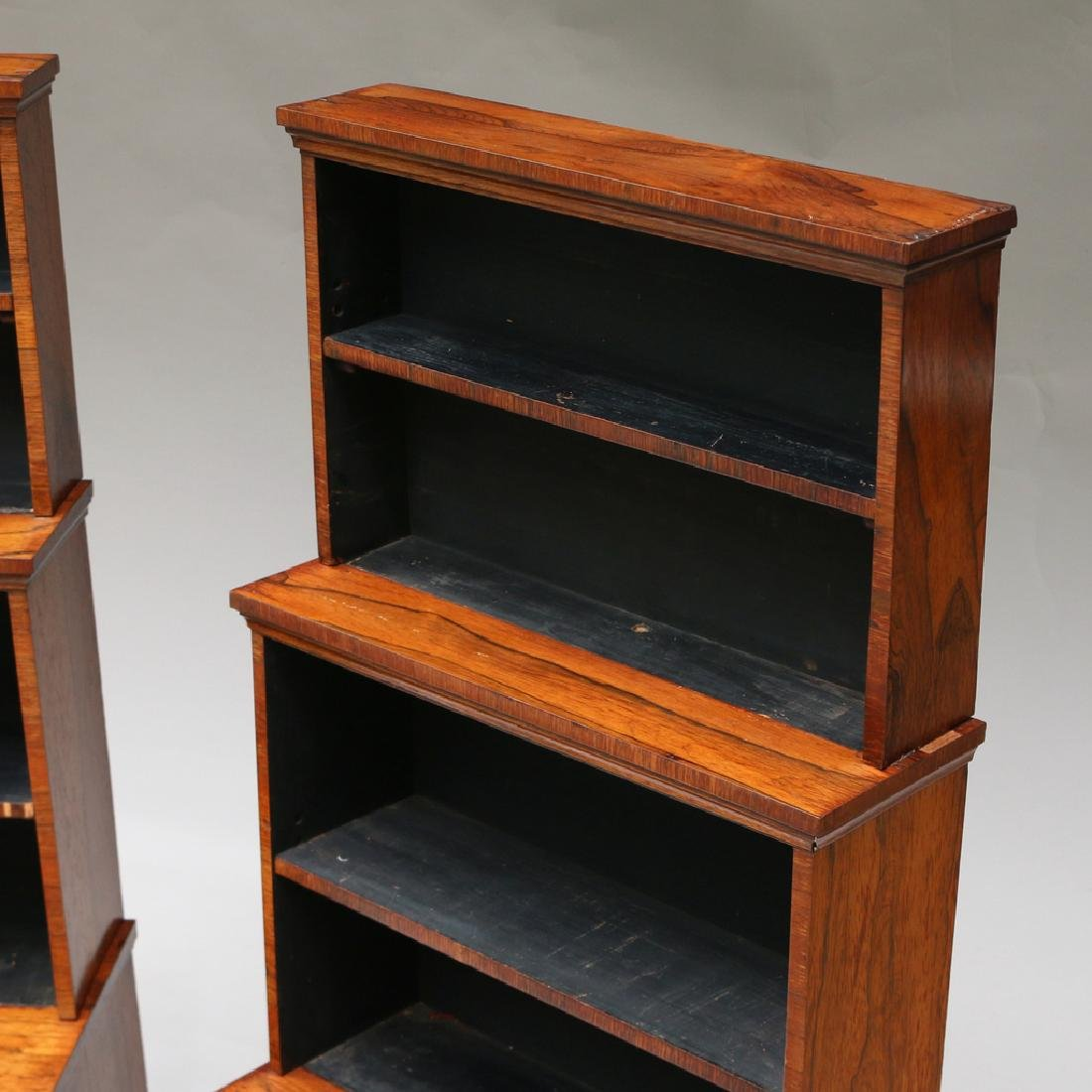 PAIR OF REGENCY ROSEWOOD TIERED BOOKCASES - 4