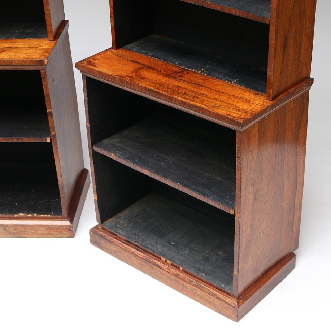 PAIR OF REGENCY ROSEWOOD TIERED BOOKCASES - 5