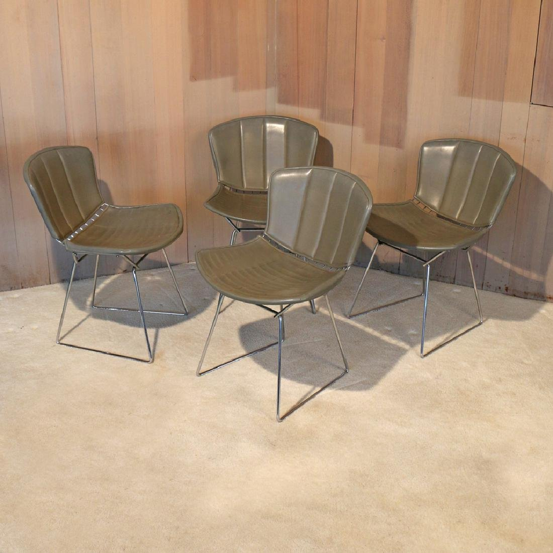 (4pc) BERTOIA FOR KNOLL INTERNATIONAL WIRE CHAIRS
