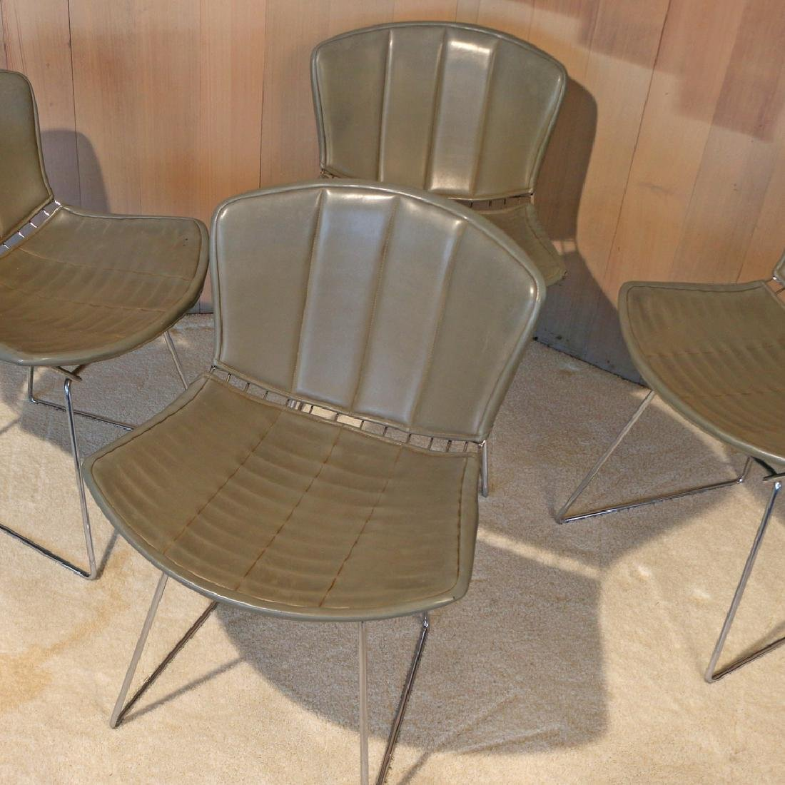 (4pc) BERTOIA FOR KNOLL INTERNATIONAL WIRE CHAIRS - 2