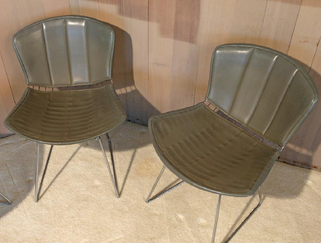 (4pc) BERTOIA FOR KNOLL INTERNATIONAL WIRE CHAIRS - 3