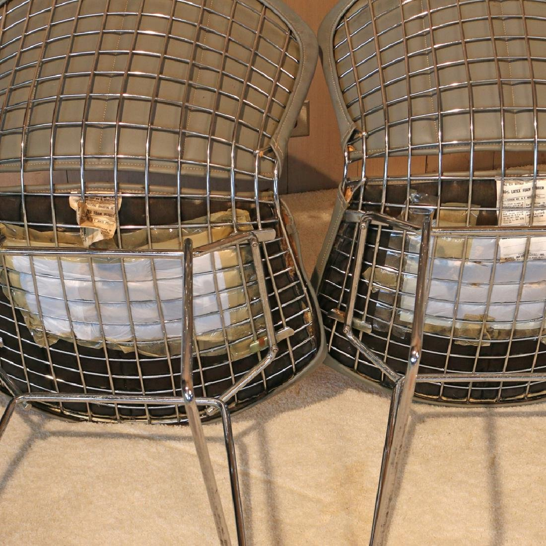 (4pc) BERTOIA FOR KNOLL INTERNATIONAL WIRE CHAIRS - 5