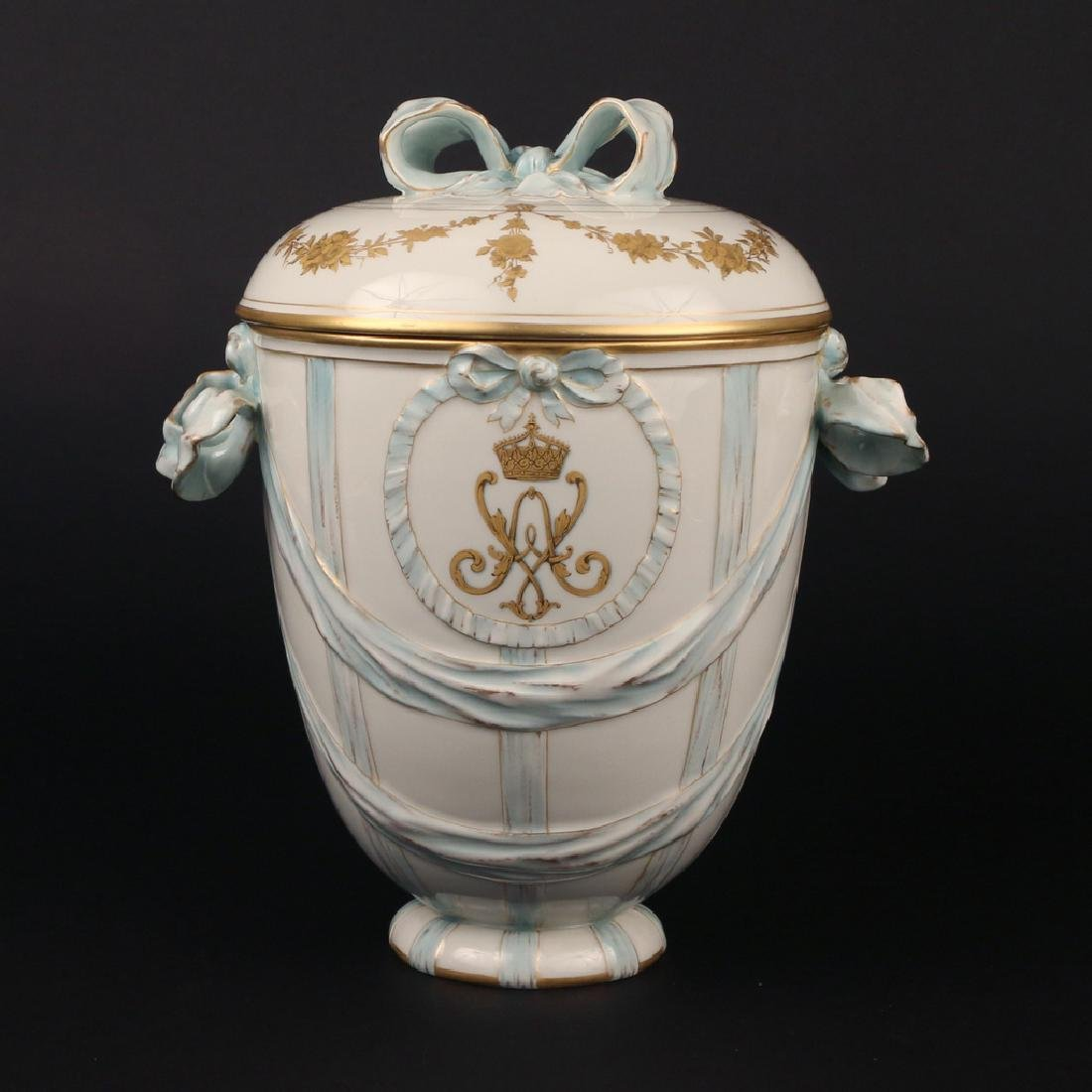 KPM PORCELAIN COVERED JAR