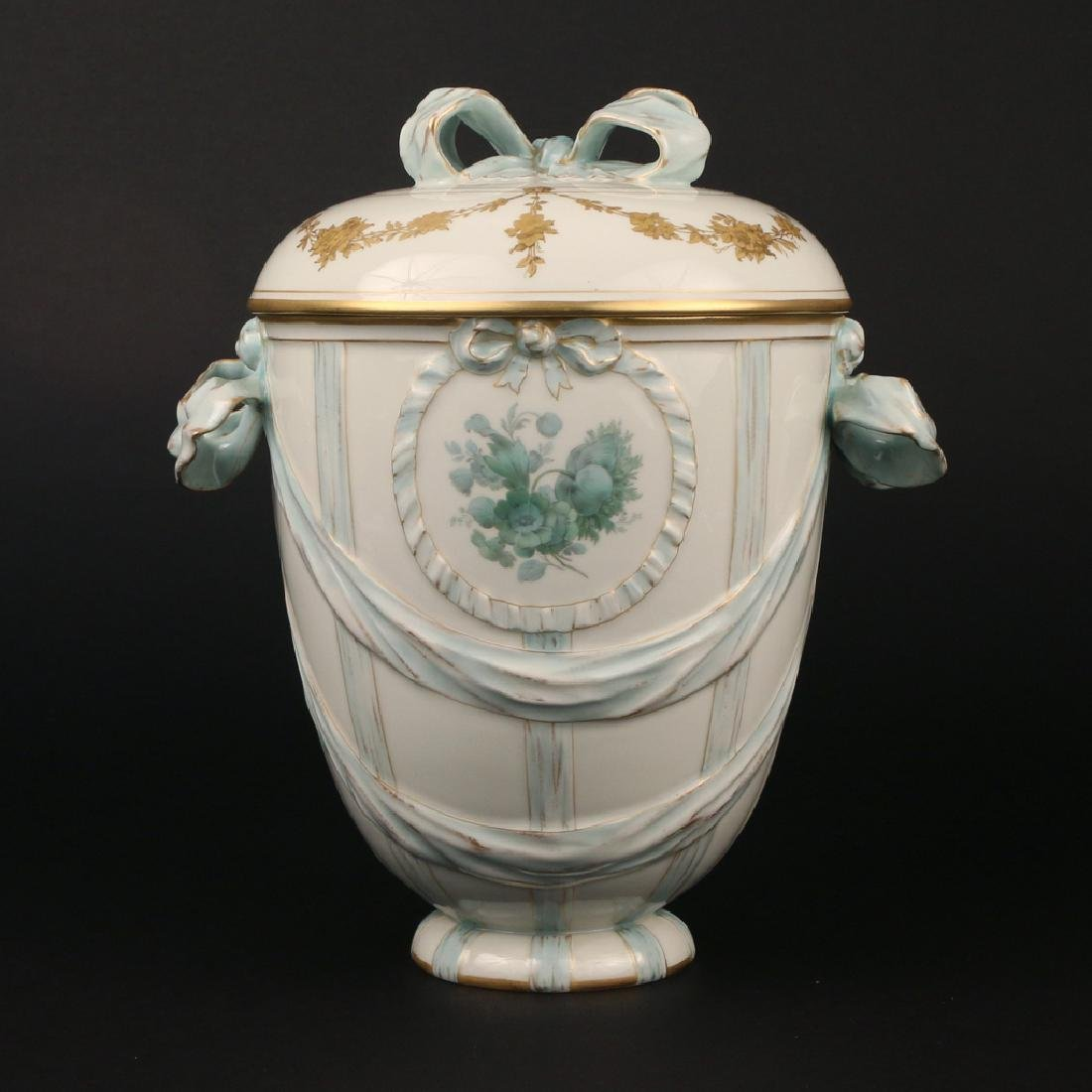 KPM PORCELAIN COVERED JAR - 2