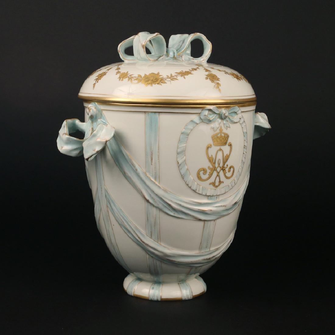 KPM PORCELAIN COVERED JAR - 3