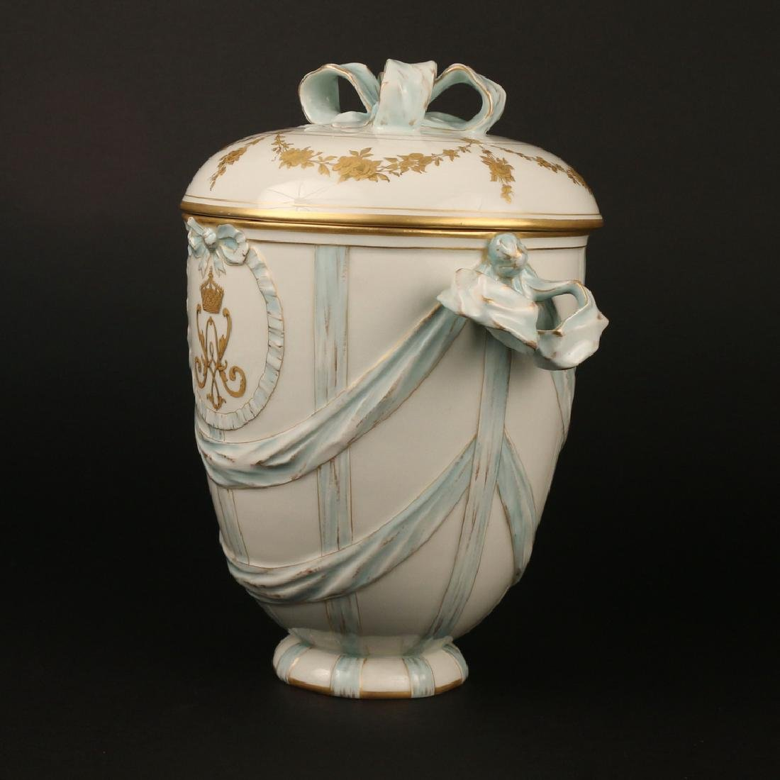 KPM PORCELAIN COVERED JAR - 4