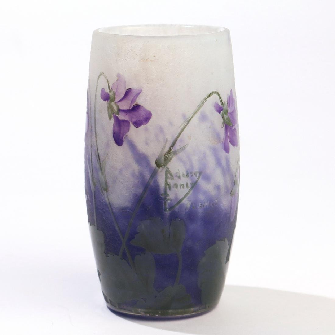DAUM NANCY CAMEO GLASS VASE