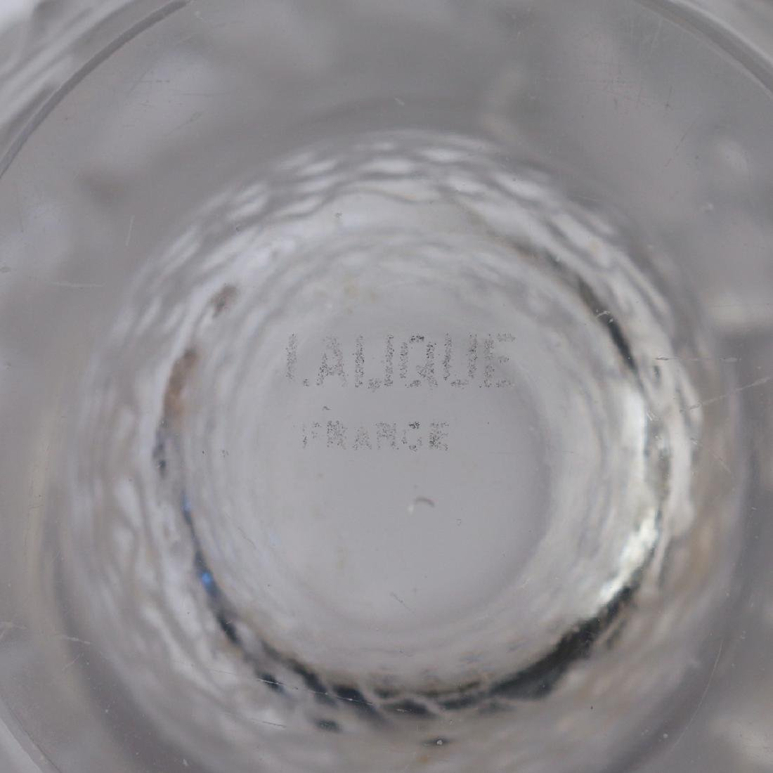 """RENE LALIQUE LES POISSONS"""" FROSTED CRYSTAL VASE"""" - 2"""