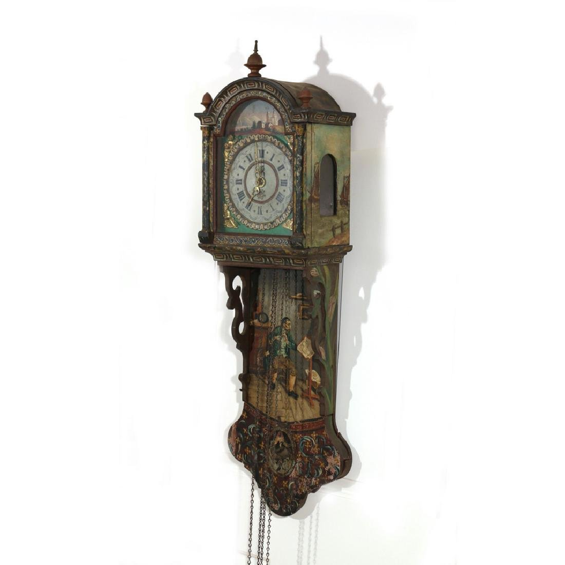 DUTCH POLYCHOME WALL CLOCK - 2