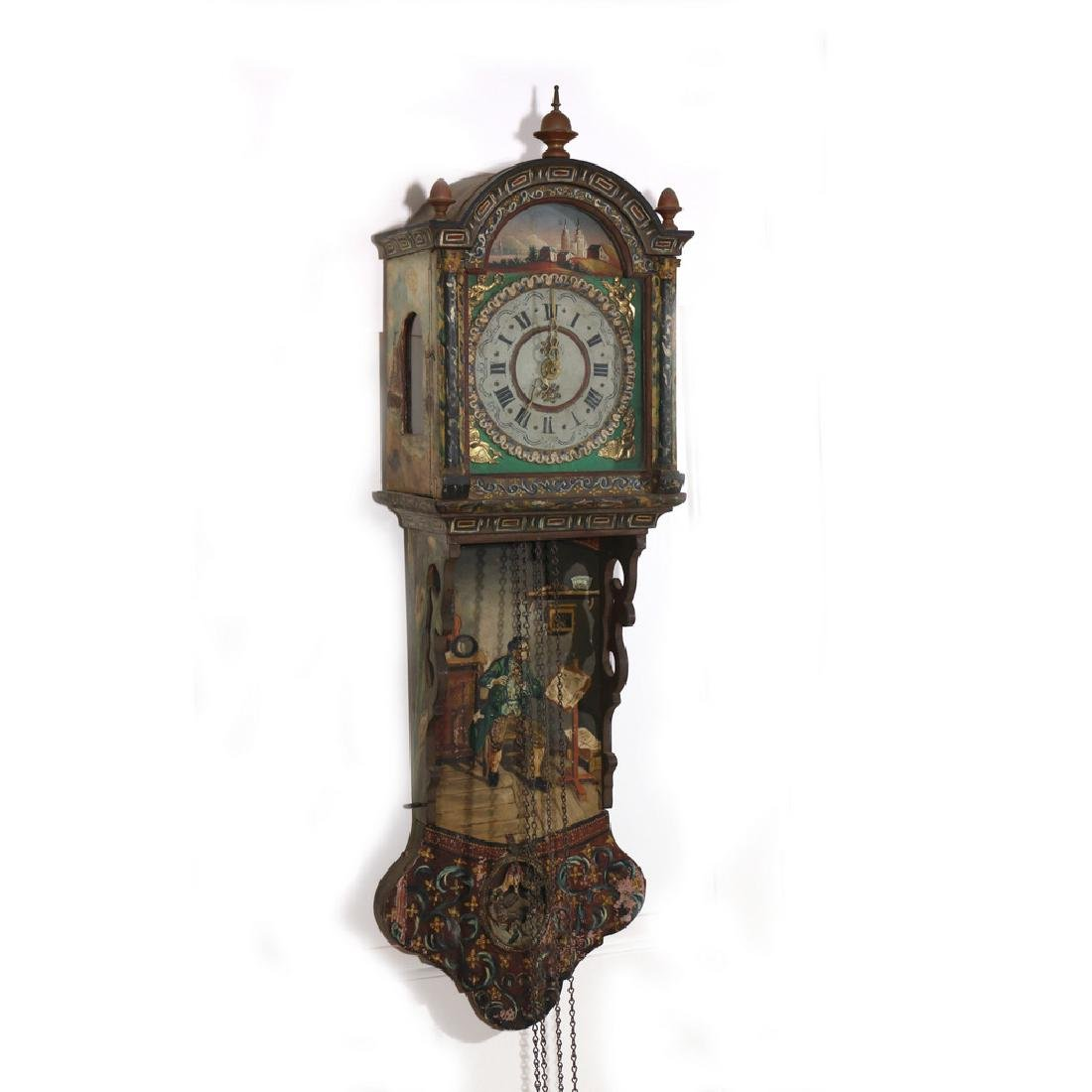 DUTCH POLYCHOME WALL CLOCK - 3