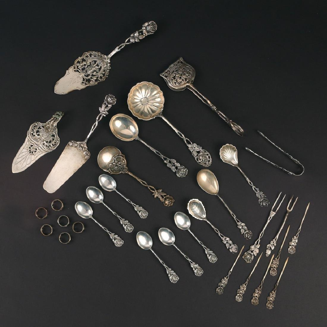 (31pc) GERMAN 800 SILVER AFTER DINNER FLATWARE