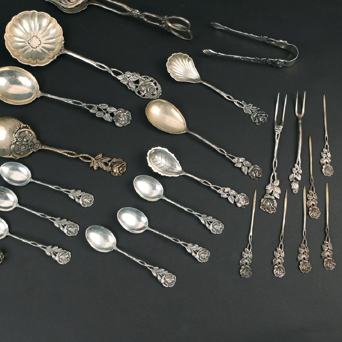 (31pc) GERMAN 800 SILVER AFTER DINNER FLATWARE - 3