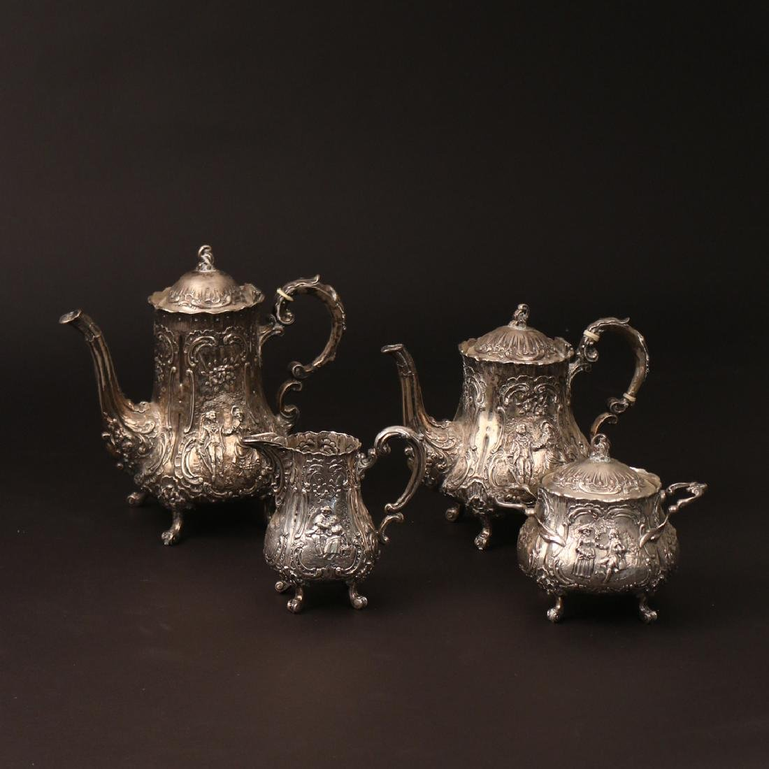 (5pc) '800' SILVER TEA & COFFEE SERVICE - 2