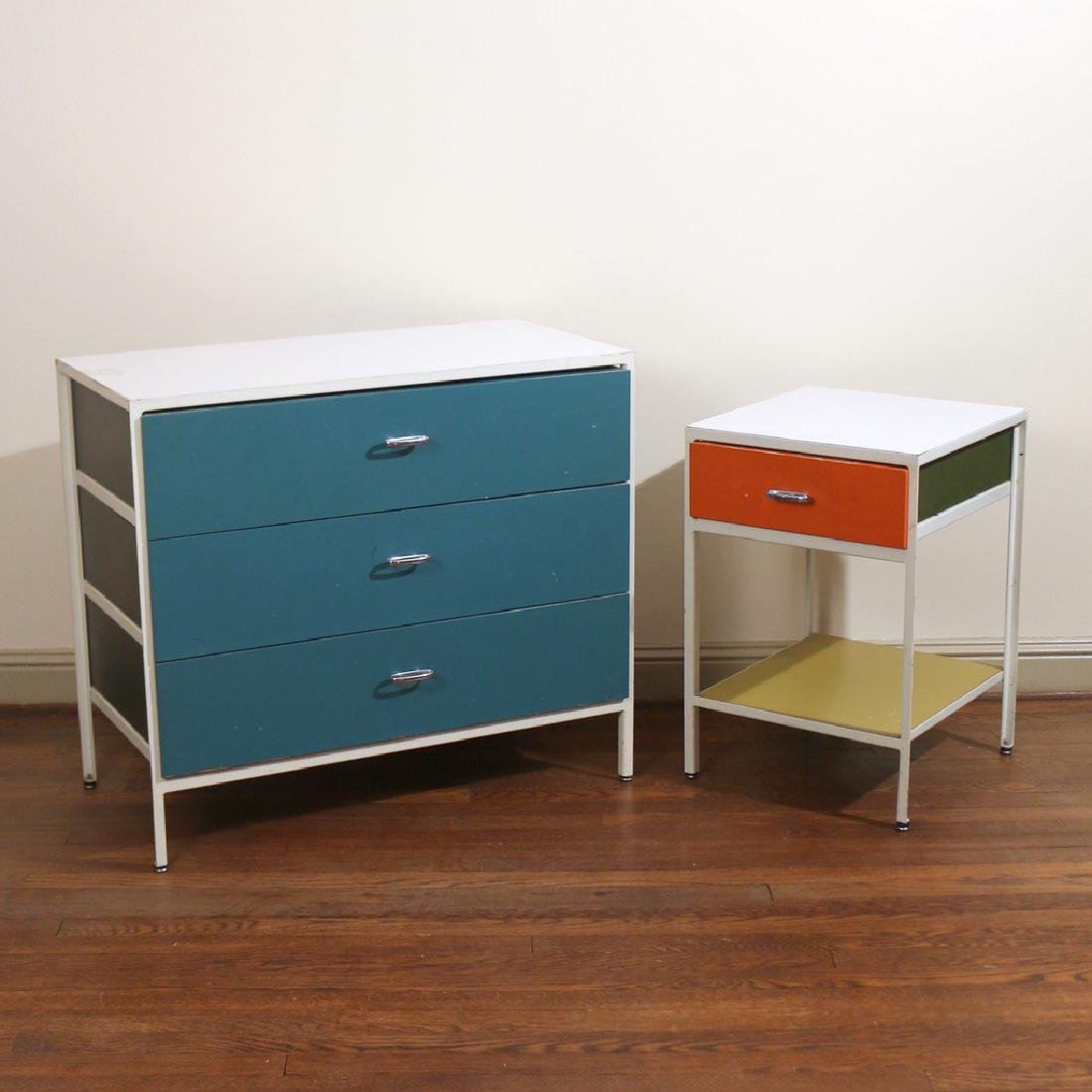 (2pc) GEORGE NELSON FOR HERMAN MILLER FURNITURE