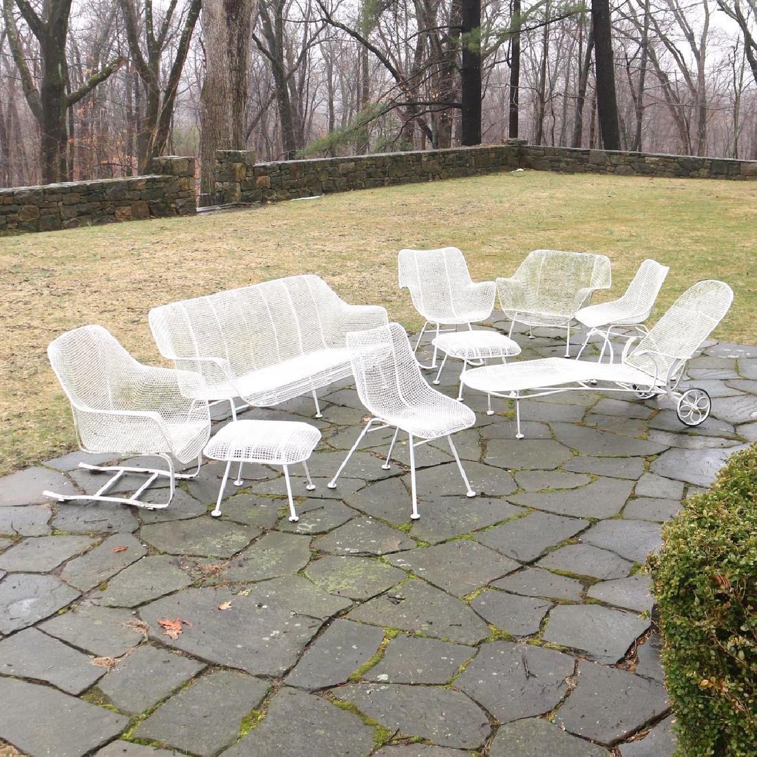 (9pc) MISC. RUSSEL WOODARD PATIO FURNITURE