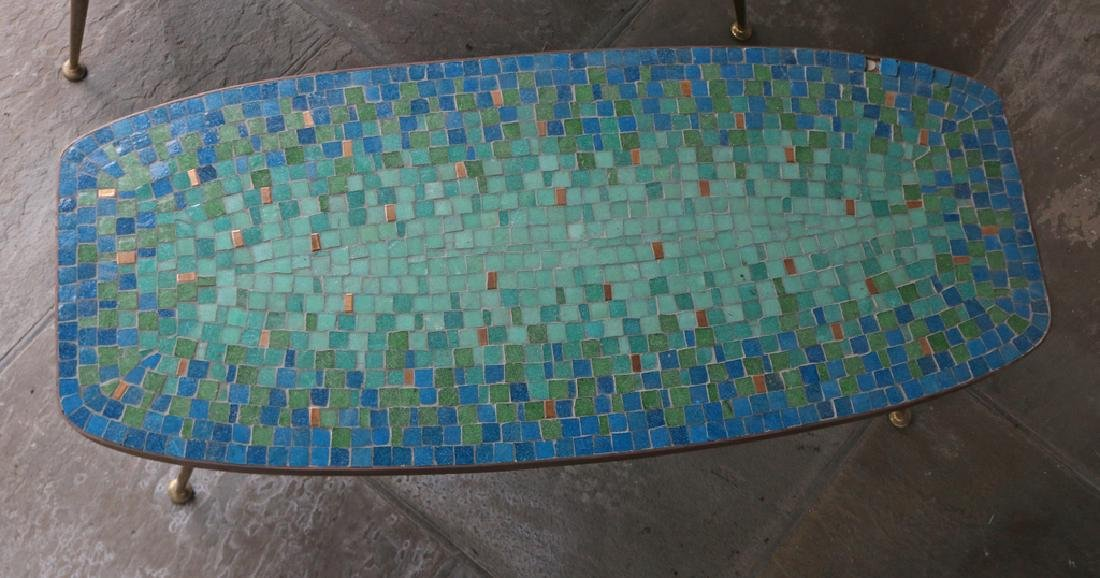 (2pc) MID-CENTURY MOSAIC COFFEE TABLES - 2
