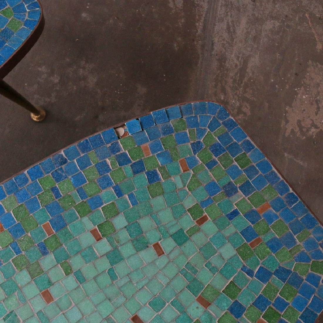 (2pc) MID-CENTURY MOSAIC COFFEE TABLES - 3