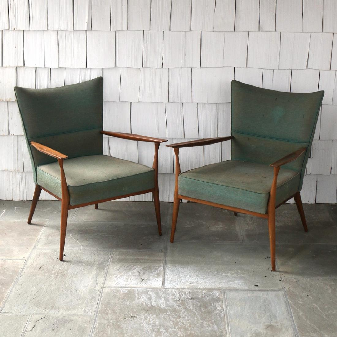 (2pc) PAUL MCCOBB LOUNGE CHAIRS