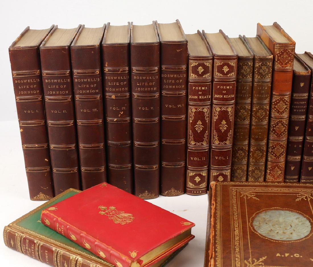 (35vol) MISC. LEATHER-BOUND BOOKS - 2