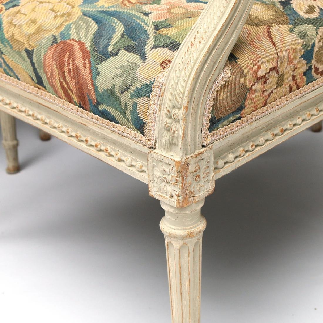 (4pc) LOUIS XVI-STYLE CARVED ARMCHAIRS - 3