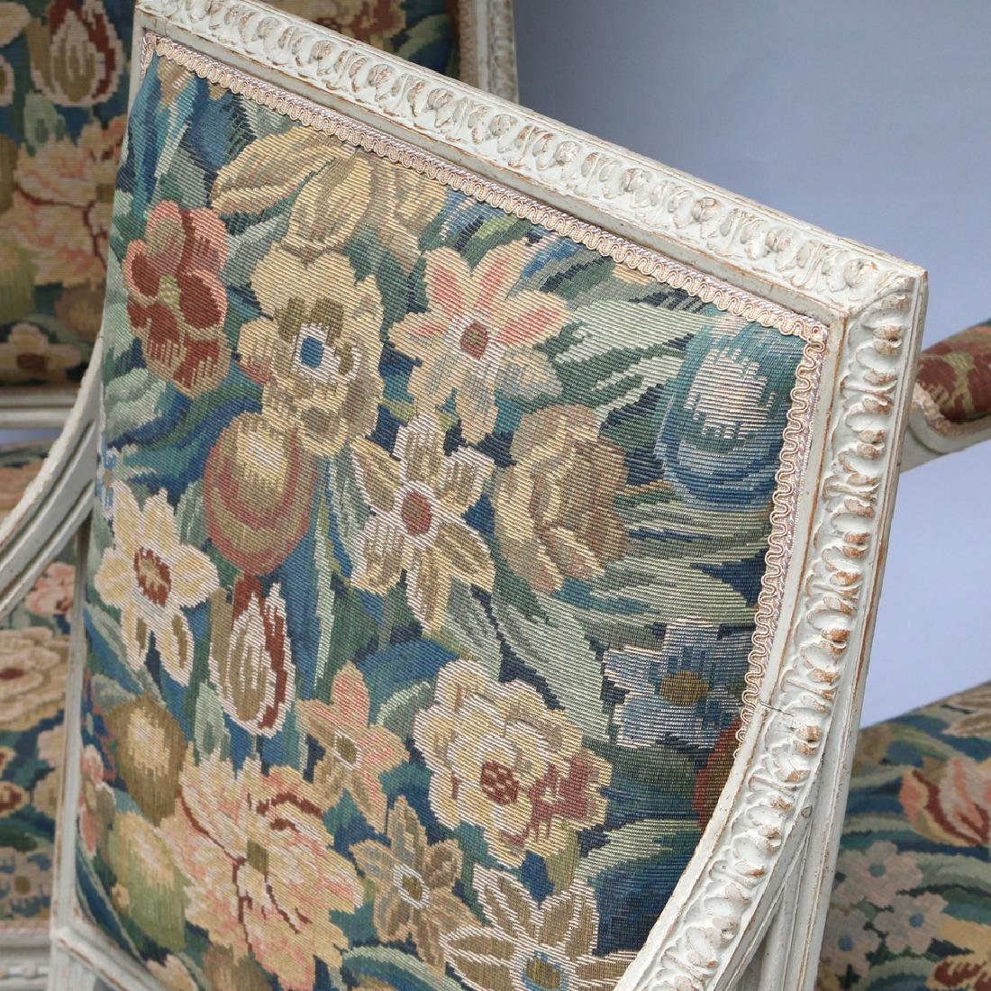 (4pc) LOUIS XVI-STYLE CARVED ARMCHAIRS - 4
