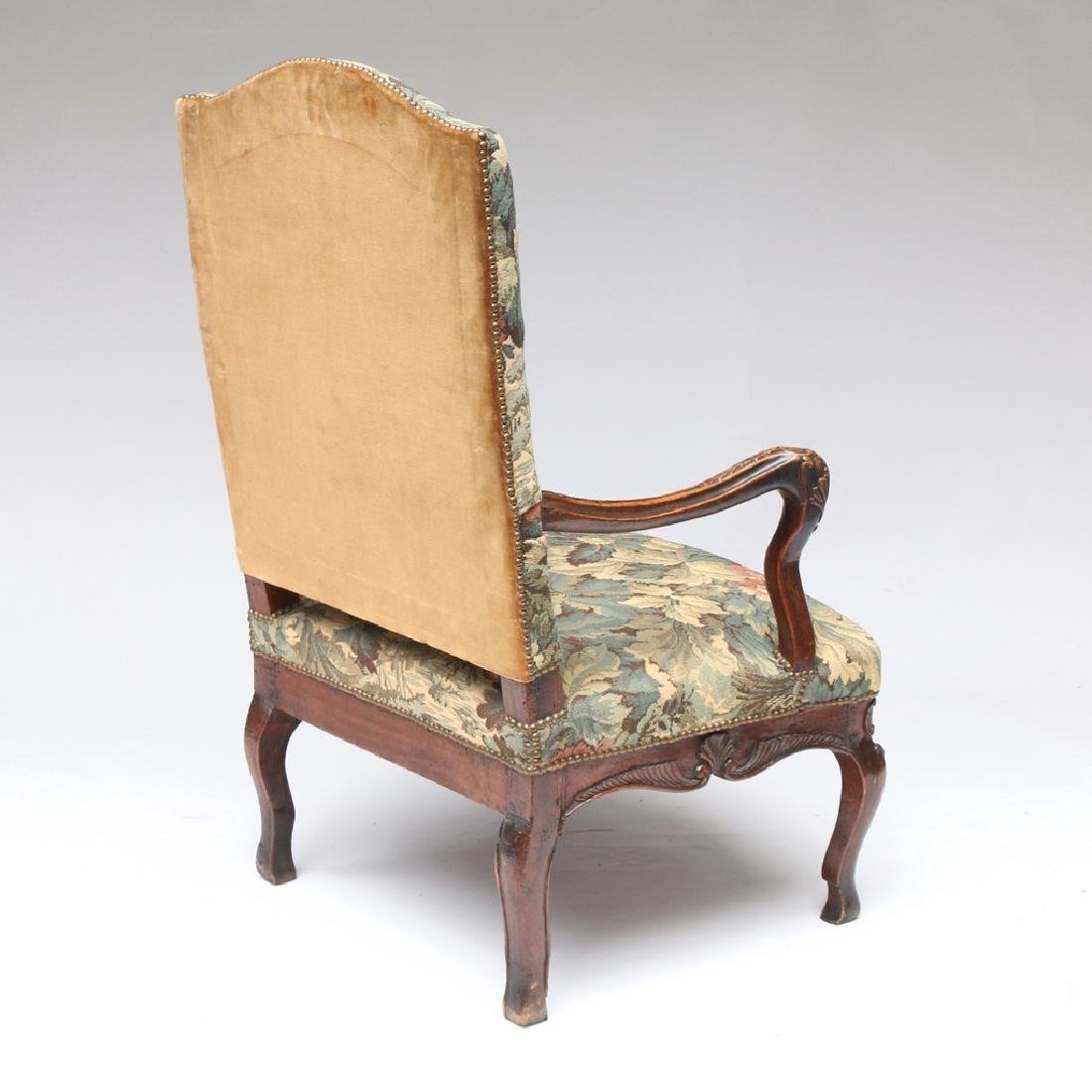 LOUIS XIII-STYLE CARVED WALNUT FAUTEUIL - 6
