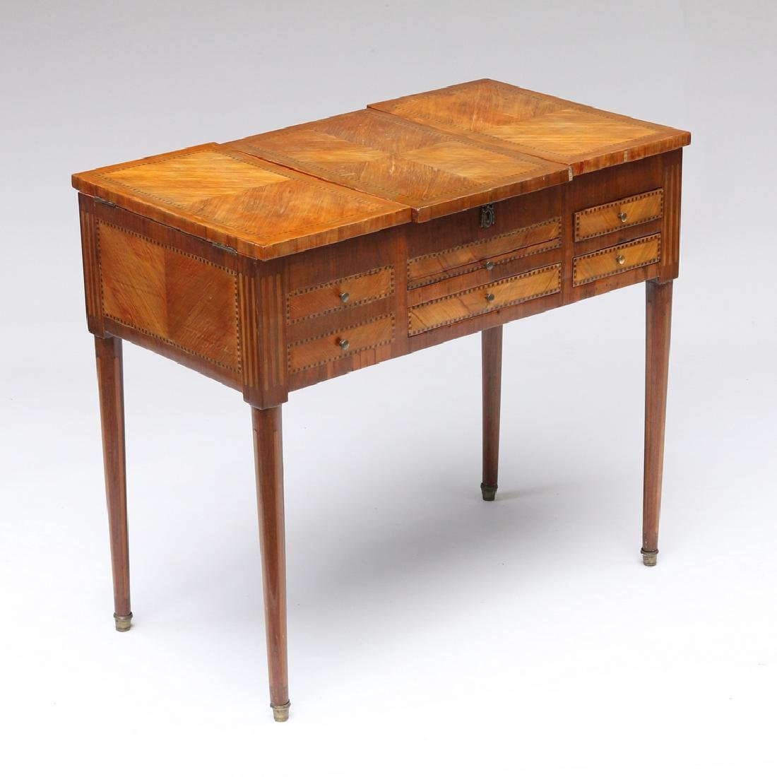 FRENCH MARQUETRY DRESSING (POUDREUSE) TABLE