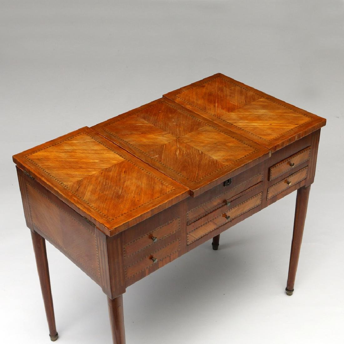FRENCH MARQUETRY DRESSING (POUDREUSE) TABLE - 2