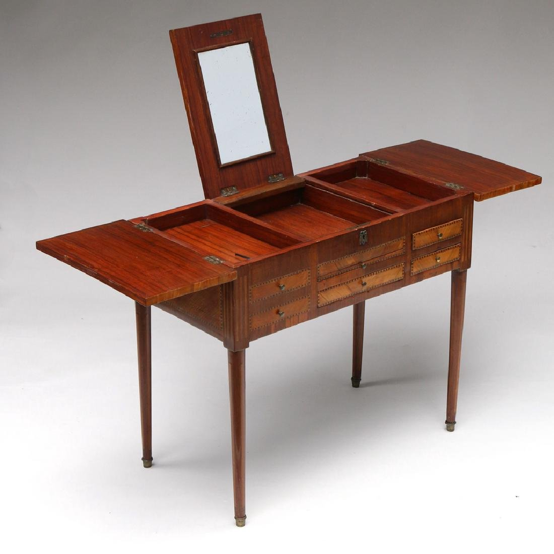 FRENCH MARQUETRY DRESSING (POUDREUSE) TABLE - 3