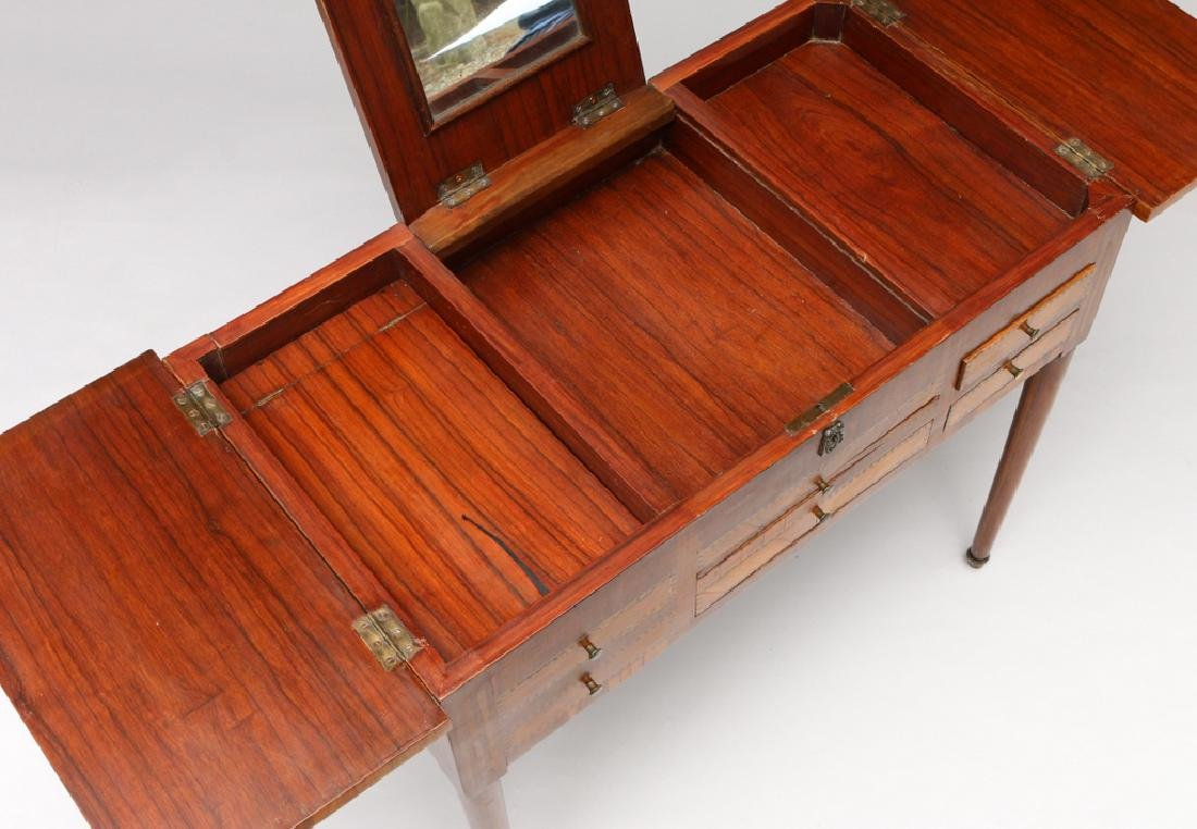 FRENCH MARQUETRY DRESSING (POUDREUSE) TABLE - 4