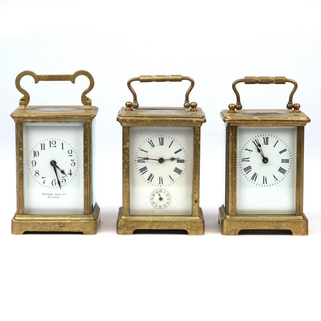 (3pc) CARRIAGE CLOCKS