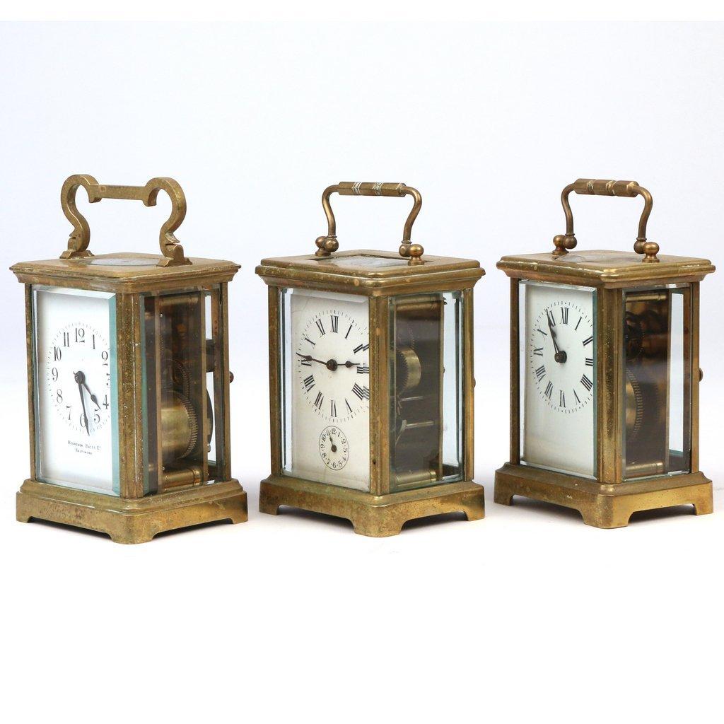 (3pc) CARRIAGE CLOCKS - 2