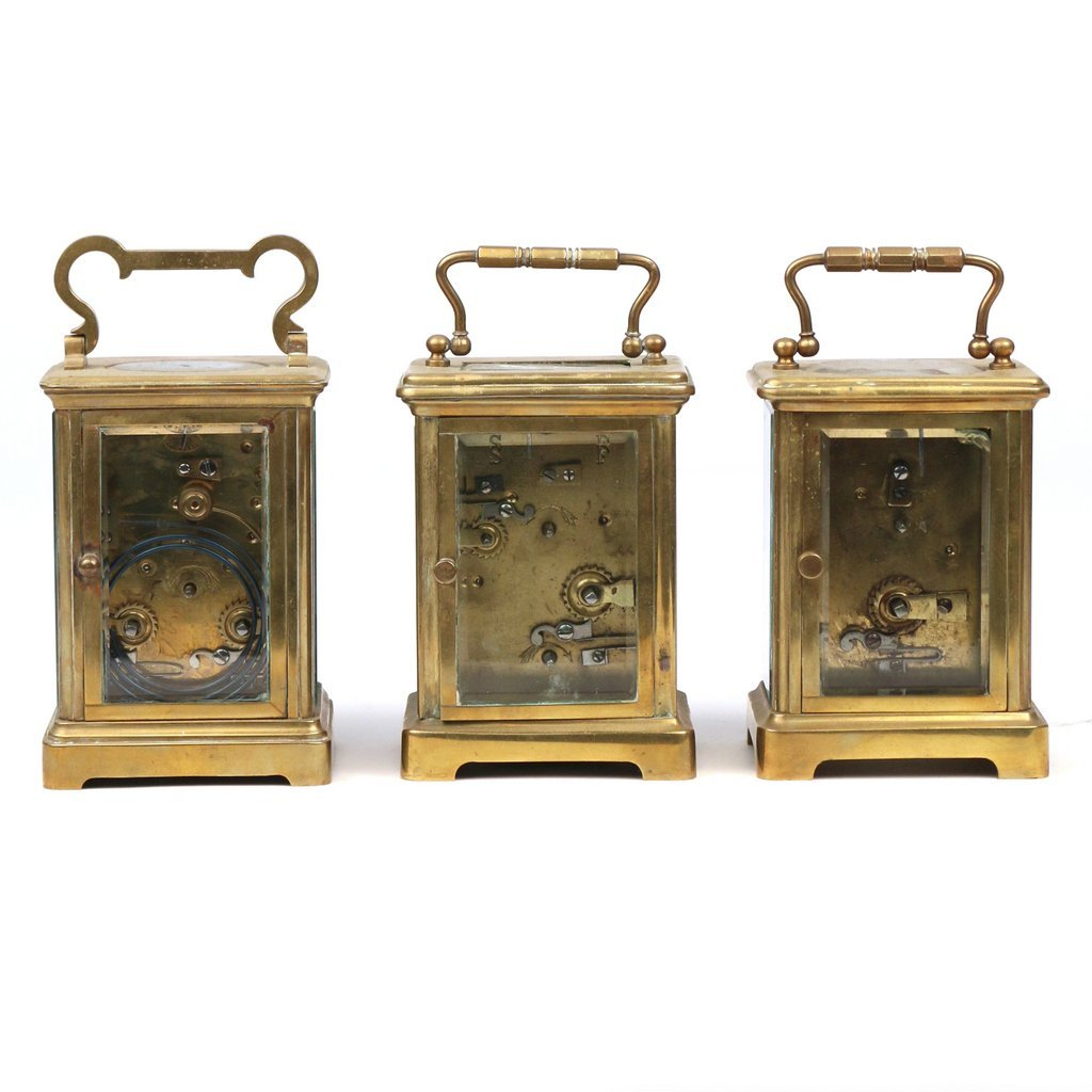 (3pc) CARRIAGE CLOCKS - 3